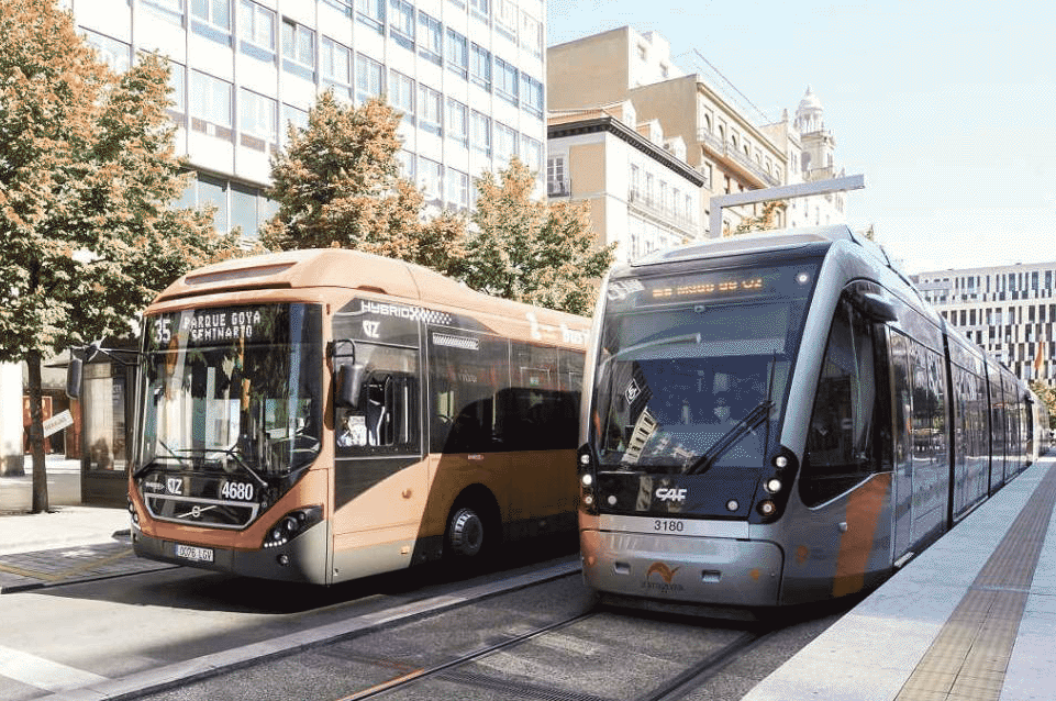 Pay the tram, bus, taxi or rent a motorcycle in Zaragoza will be possible using the same app in 2021